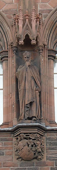 statue of Cardinal Beaton scottish national portrait gallery queen street edinburgh
