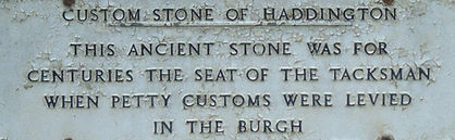 Custom Stone Plaque Haddington East Loth
