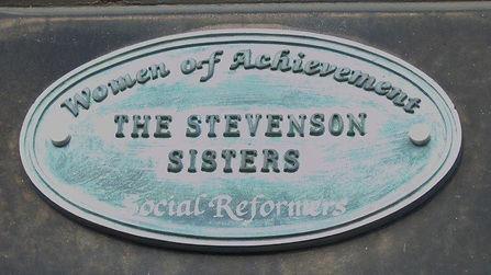 Stevenson Sisters Plaque Randolph Cresce