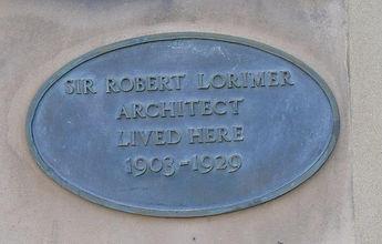 Robert Lorimer Plaque Melville Street Ed