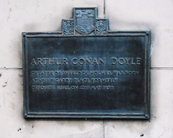 Birthplace of Sir Arthur Conan Doyle Plaque