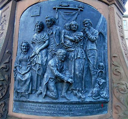 Robert Burns Statue  Plaque Leith Edinbu