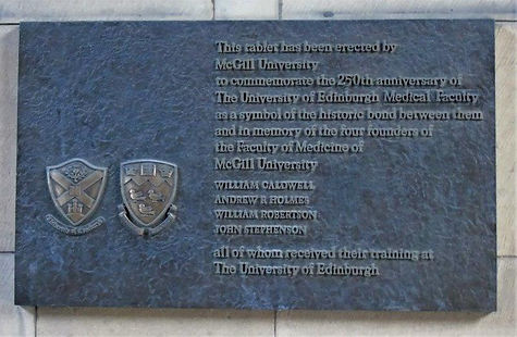 McGill University  250 Anniversary Memorial Plaque