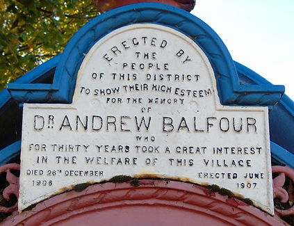 Dr Andrew Balfour Fountain Newcraighall