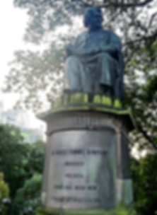 james young simpson statue princes street edinburgh