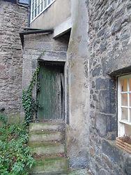 Hope's Court Back Door. High Street Edin