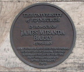 Medallion Edinburgh University Old College Miranda Barry