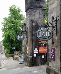 old town jail Sign Stirling Tour Scotland