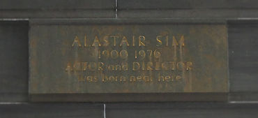 film house Alastair Sim plaque lothian road edinburgh