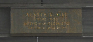 film house Alastair Sim plaque lothian road edinburgh
