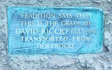 David Riccio's Grave,Canongate Kirk Edinburgh