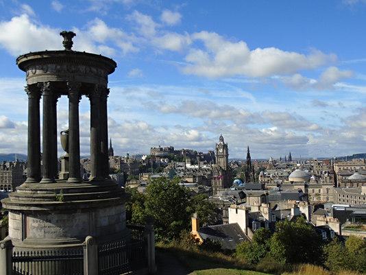 Dugald Stewart Memorial and Edinburgh