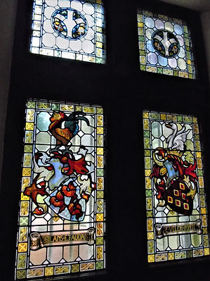 Stain Glass Windows of Bonaly Tower Colinton Edinburgh