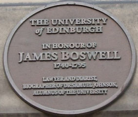 Medallion Edinburgh University Old College James Boswell