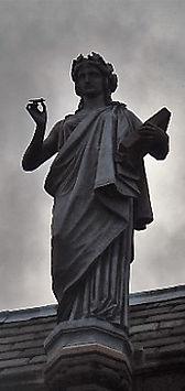statue of Kleio daughter of Zues scottish national portrait gallery queen street edinburgh