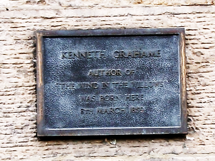 Kenneth Grahame Author Wind in the Willows born here Edinburgh
