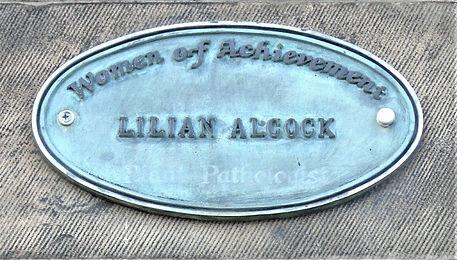 Lilian Alcock Plaque Inverleith Row Edin