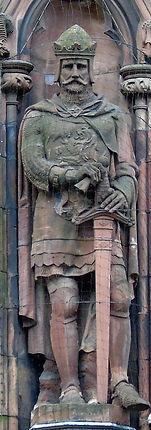 statue of King Robert the Bruce scottish national portrait gallery queen street edinburgh