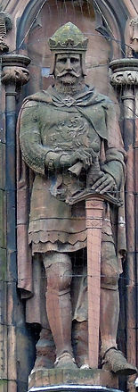 statue of King Robert the Bruce scottish national portrait gallery queen street edinburgh