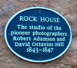 rock house plaque Calton Hill Edinburgh