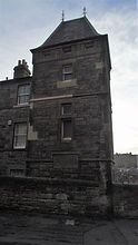 House built on the Flodden Wall Johnston