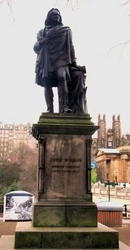JOHN WILSON statue Princes Street Edinburgh