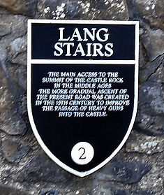 Lang Stairs Plaque Edinburgh Castle