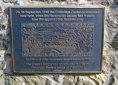 Old Colt Bridge Plaque Edinburgh
