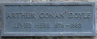 Arthur Conan Doyle Plaque