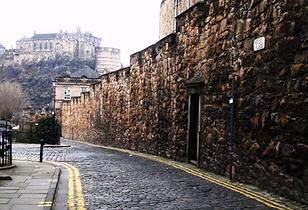 Telfer Wall Heriot Place.Vennel West Port Grassmarket Edinburgh Castle