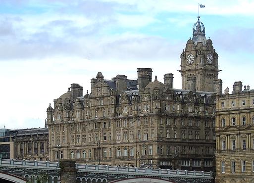 the balmoral hotel at the foot of the north bridge Edinburgh