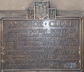 anchor close plaque High Street Royal Mi
