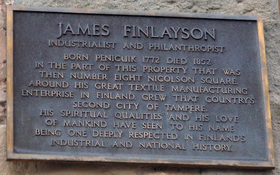 James Finlayson Pioneer of Finland died here
