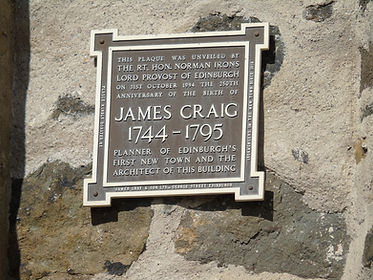 James Craig Plaque Gothic Tower Calton Hill Edinburgh
