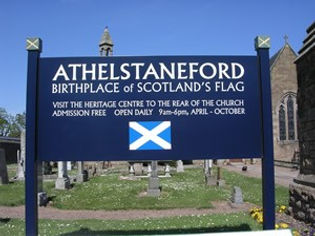 Athelstaneford Village Flag Centre East Lothian