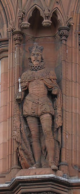 statues of King James VI and I  scottish national portrait gallery queen street edinburgh