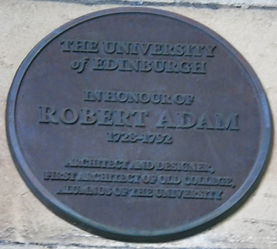 Medallion Edinburgh University Old College Robert Adam