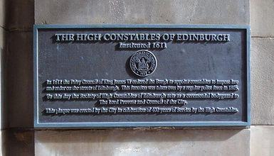 High Constabulary Edinburgh Plaque.