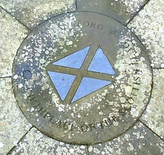 Saltire Bore Stone East Lothian