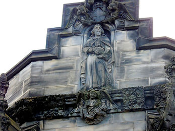 allaboutedinburgh royal mile high street Saint Gile's Cathedral statue of Saint Andrew
