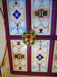 Kings Bedchamber Ceiling  Stirling Castle Royal Palace
