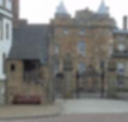 Holyrood Palace Gates Royal Mile Abbey Strand