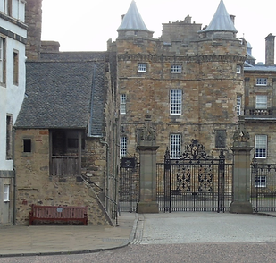 Holyrood Palace Gates Royal Mile Abbey Strand