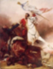 """The Fight for the Standard at the Battle of Waterloo""  By, Richard Ansdell R.A."
