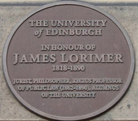 Medallion Edinburgh University Old College James Lorimer