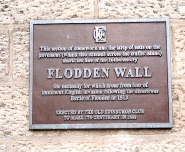 Flodden Wall Plaque Bristo Port