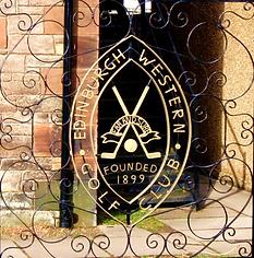 Edinburgh Western Golf Club Sign.