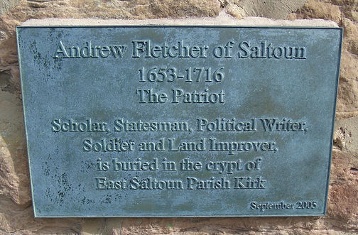 Fletcher the Patriot Plaque East Saltoun