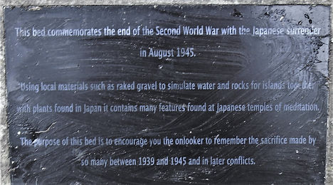 Memorial Plaque Japanese Surrender 1945 North Berwick East Lothian Lodge Park