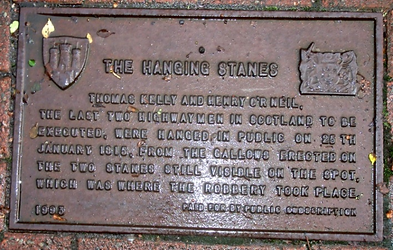 The Hanging Stanes Plaque Edinburgh
